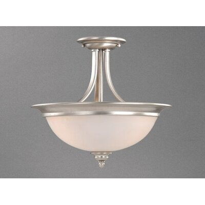 Bourbon 2-Light Semi Flush Mount Finish: Brushed Nickel