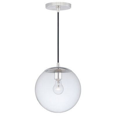 630 Series 1-Light Mini Pendant Finish: Polished Nickel, Shade Color: Clear Glass