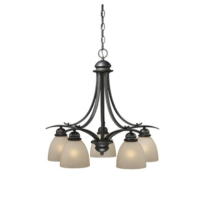 Bourbon 5-Light Shaded Chandelier Finish: Oil Burnished Bronze