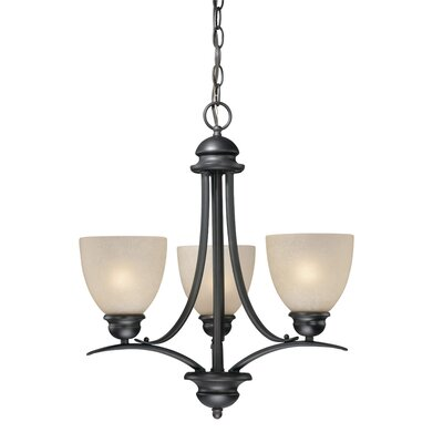 Bourbon 3-Light Shaded Chandelier Finish: Oil Burnished Bronze
