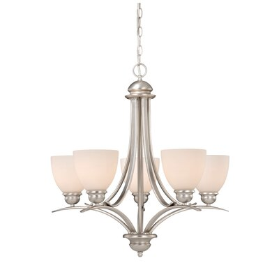 Avalon 5-Light Shaded Chandelier Finish: Brushed Nickel