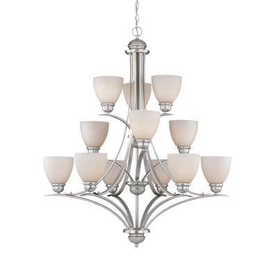 Bourbon 12-Light Shaded Chandelier Finish: Brushed Nickel