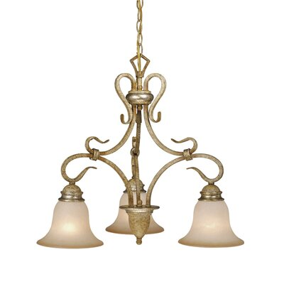 Berkeley 3-Light Shaded Chandelier Finish: Corinthian Patina
