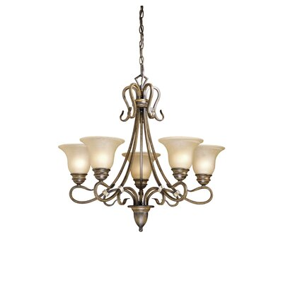 Brose 5-Light Shaded Chandelier Color: Aged Walnut