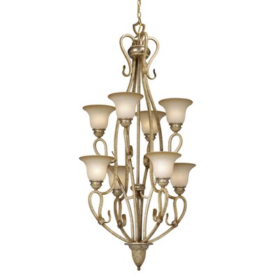 Berkeley 8-Light Shaded Chandelier Finish: Corinthian Patina