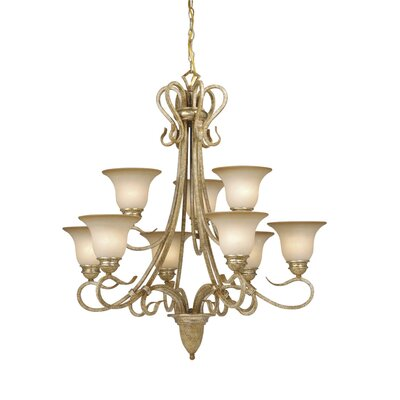Berkeley 9-Light Shaded Chandelier Finish: Corinthian Patina