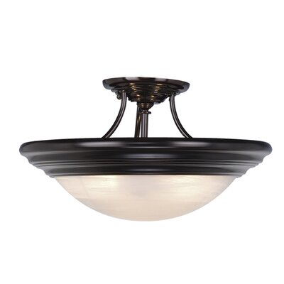 Tertial Flush Mount Size: 9 H x 17 W, Finish: Oil Burnished Bronze