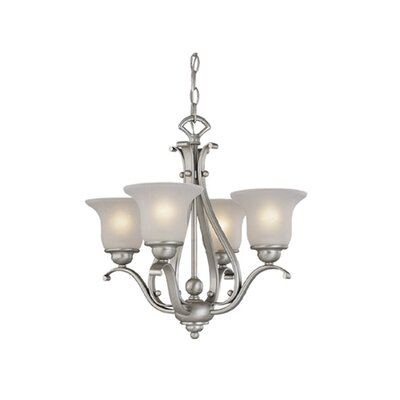 Enfield 4-Light Shaded Chandelier Finish: Brushed Nickel