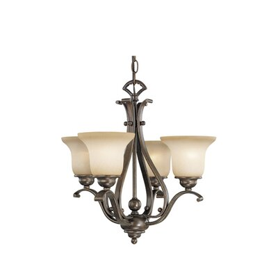 Enfield 4-Light Shaded Chandelier Finish: Royal Bronze