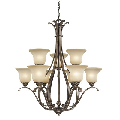 Enfield 9-Light Shaded Chandelier Finish: Royal Bronze