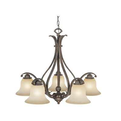 Enfield 5-Light Shaded Chandelier Finish: Royal Bronze