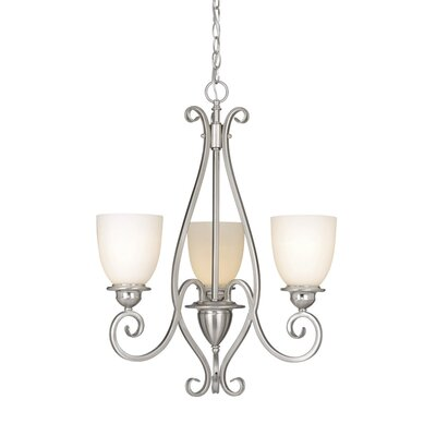 Mont Blanc 3-Light Shaded Chandelier Finish: Satin Nickel