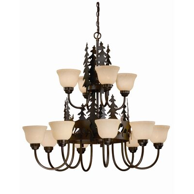 Bryce 12-Light Shaded Chandelier