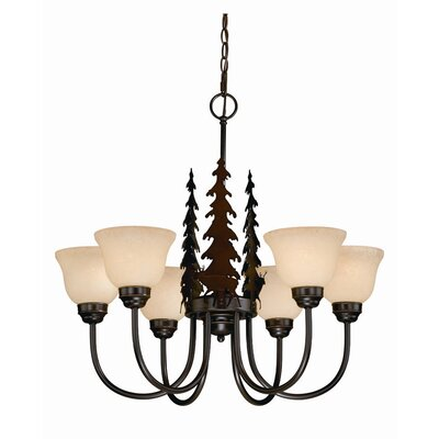 Bryce 6-Light Shaded Chandelier