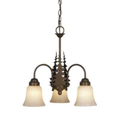 Jennings 3-Light Shaded Chandelier