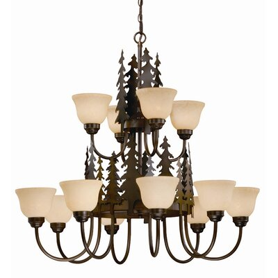 Jennings 12-Light Shaded Chandelier