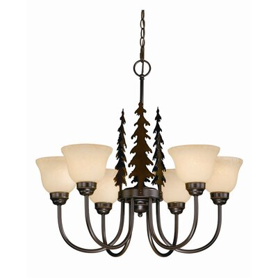 Jennings 6-Light Shaded Chandelier