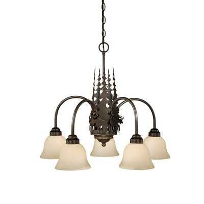 Ponton 5-Light Shaded Chandelier