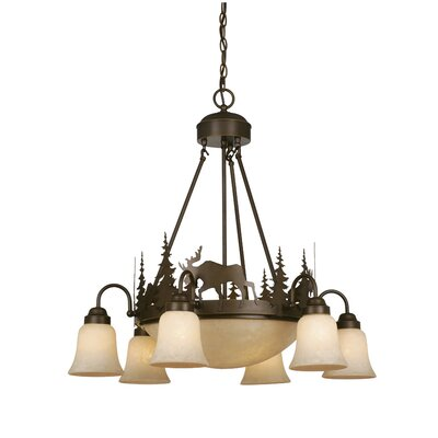 Ponton 9-Light Shaded Chandelier