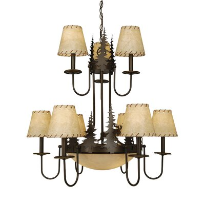 Yellowstone Indoor 9-Light Shaded Chandelier