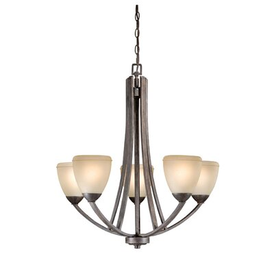 Morford 5-Light Shaded Chandelier Finish: Black Walnut