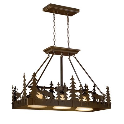Yellowstone 3-Light Kitchen Island Pendant