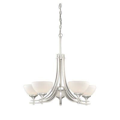 Sebring 5-Light Shaded Chandelier Finish: Brushed Nickel