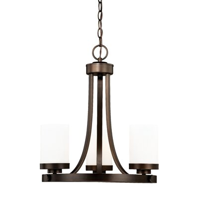 Gallman 3-Light Shaded Chandelier