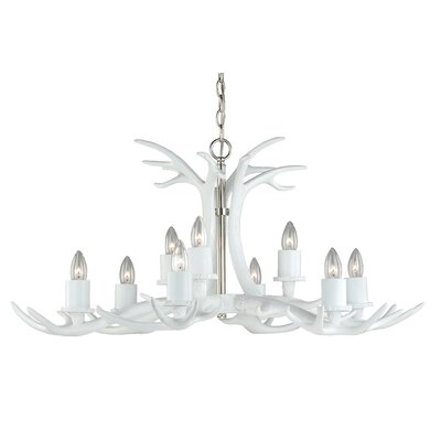 Vail Antler 9-Light Candle-Style Chandelier