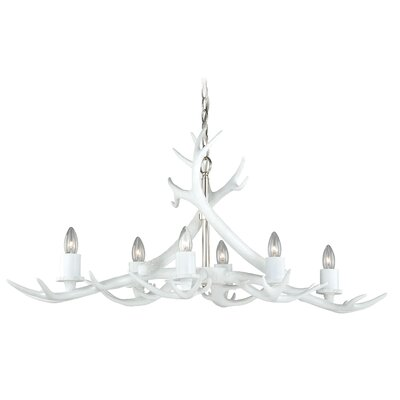 Vail Antler 6-Light Candle-Style Chandelier