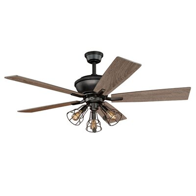 52 Clybourn 5 Blade Ceiling Fan Finish: Bronze with Driftwood Dark Maple Blades