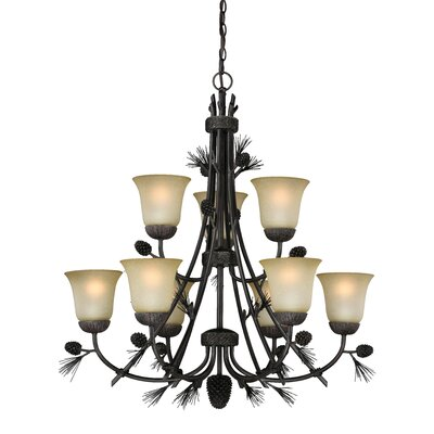 Stricklin 9-Light Shaded Chandelier