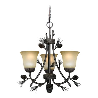 Stricklin 3-Light Shaded Chandelier