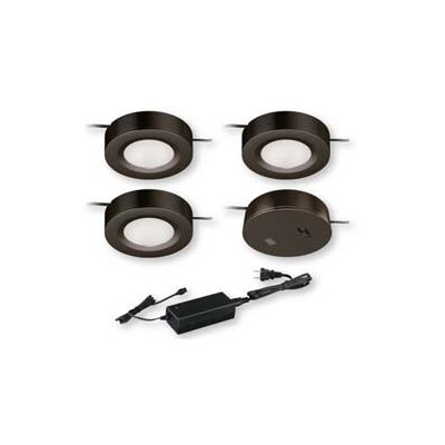 Instalux? LED Under Cabinet Puck Light Kit Finish: Bronze