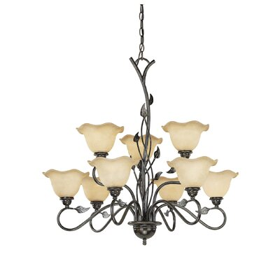 Vine 9-Light Shaded Chandelier