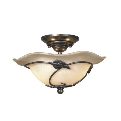 Mia 2-Light Semi Flush Mount