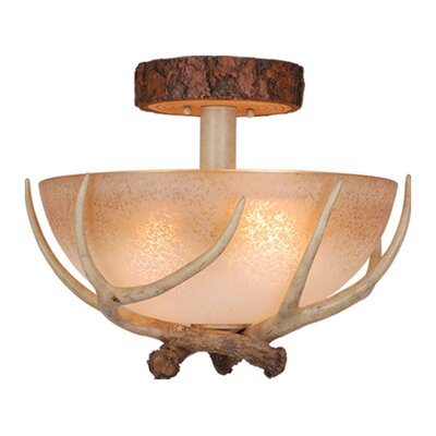 Lodge 2-Light Semi Flush Mount Size: 16