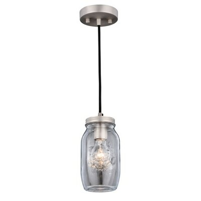 Robertson Jar 1-Light Mini Pendant Finish: Matte Nickel