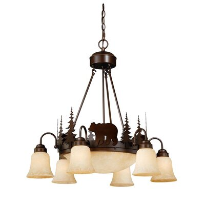 Jensen 9-Light 100W Shaded Chandelier