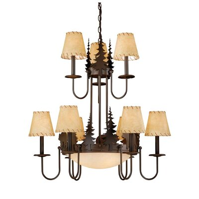 Bozeman 9-Light Shaded Chandelier