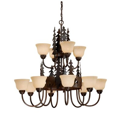 Jensen 12-Light Shaded Chandelier