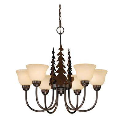 Bozeman 6-Light Shaded Chandelier