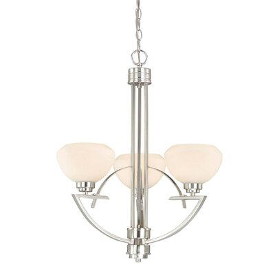 Solna 3-Light Shaded Chandelier