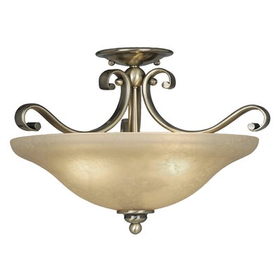 Monrovia Semi Flush Mount Finish: Antique Brass