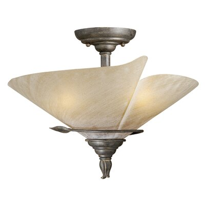 Capri 3-Light Semi Flush Mount