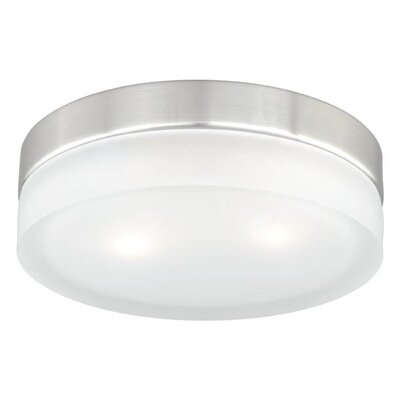 Aimee 2-Light Flush Mount Size: 2.75 H x 9 W x 9 D