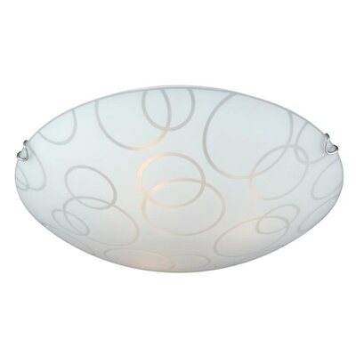 Barela 2-Light Flush Mount Size: 4.25 H x 16 W x 16 D