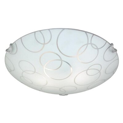 Loft 2-Light Flush Mount Size: 3 H x 12.25 W x 12.25 D