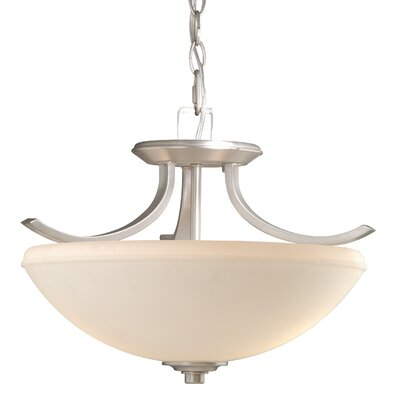Helsinki 2-Light Convertible Inverted Pendant Finish: Brushed Nickel