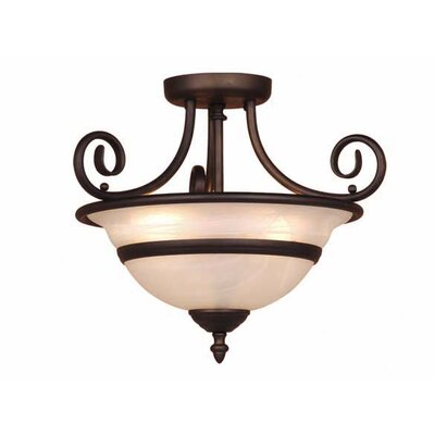 Da Vinci 3-Light Semi Flush Mount Finish: Oil Burnished Bronze